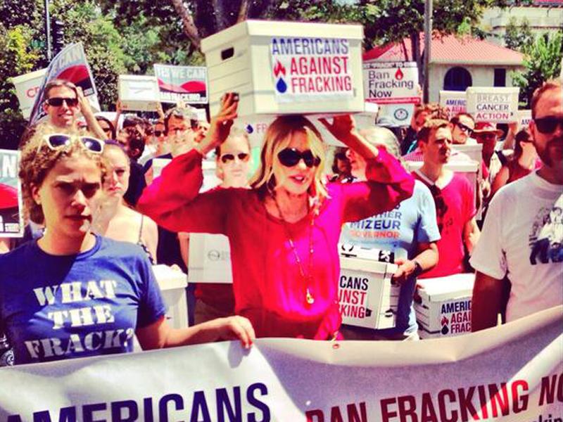 Marching against Fracking: Daryl Hannah